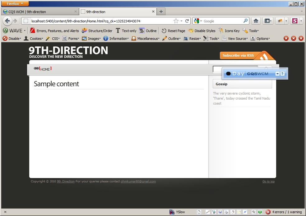 Web output